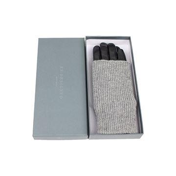læderhansker med strik fra Re:designed