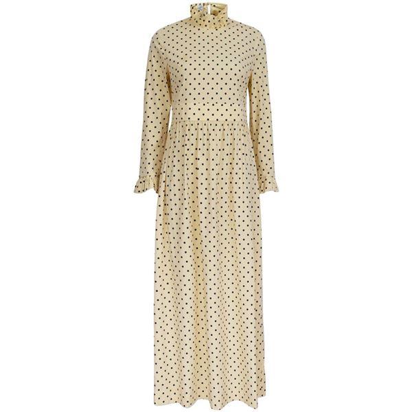 gul lang kjole