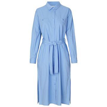 cora blå kjole fra samsøe samsøe