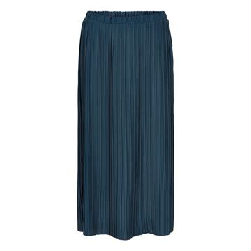 Abbygail nederdel i navy fra And Less