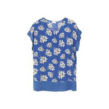 Blomstret bluse i blå fra By Malene Birger