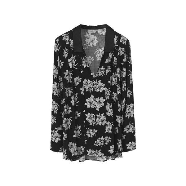 blomstret skjorte i sort fra By Malene Birger