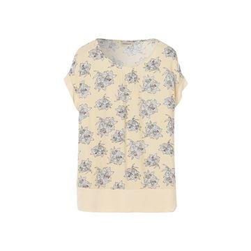 Blomstret bluse i creme fra By Malene Birger