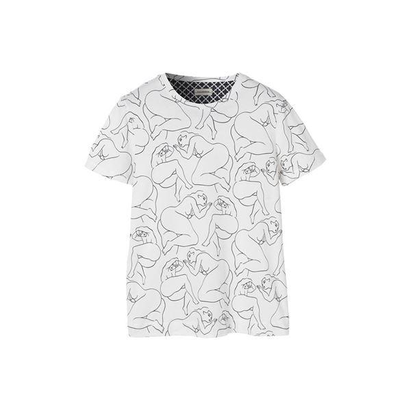 Black PRINTED TEE  By Malene Birger  T-shirts