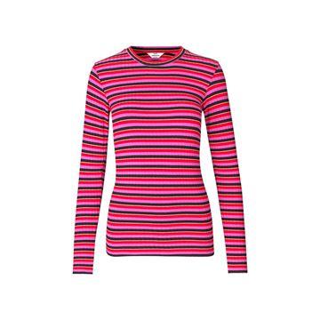 Lurex stripe bluse fra Mads Nørgaard
