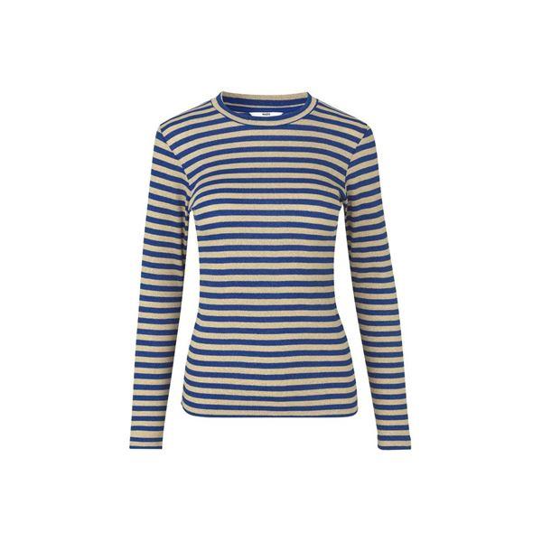 Tube glitter stripe bluse fra Mads Nørgaard